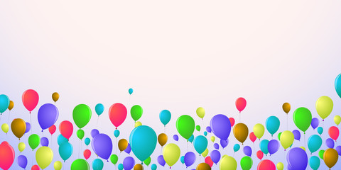 Background in the floor of the screen in bright balloons