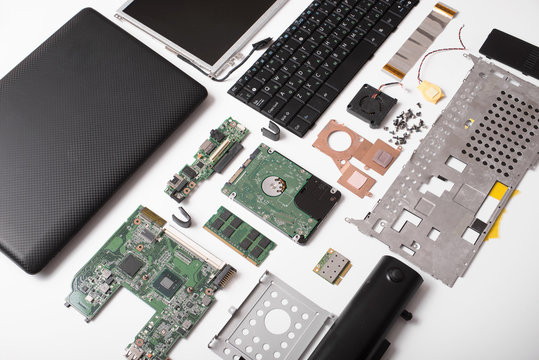 laptop parts, repair and recovery, a top view