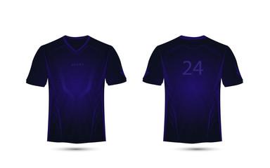 Dark purple lines layout. Technology concept. football sport t-shirt, kits, jersey, shirt  design template
