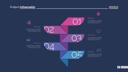 Five Steps Process Slide Template