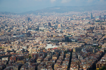 Historical neighbourhoods of Barcelona, view above