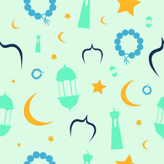 Vector of Ramadhan seamless pattern. Great for greeting cards, poster, banner, wallpaper or textile print.