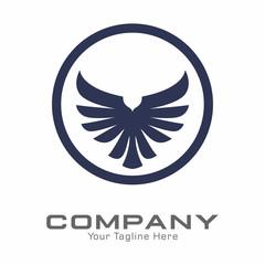 Foto op Plexiglas Uilen cartoon Eagle Logo Vector Template