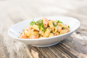 Piatto di Penne al Salmone, Pasta Italiana