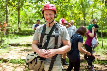 Man at Goa Jomblang Tour near Yogyakarta, Indonesia