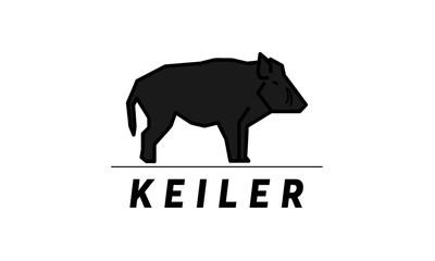Boar Wildschwein Keiler Jagd Logo Vektor