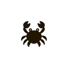 crab icon. sign design