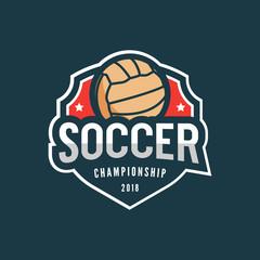 football, soccer logo. sport emblem. vector illustration