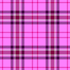 check diamond tartan plaid scotch fabric seamless pattern texture background - pastel baby pink, magenta, purple color