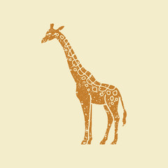 Simple icon of a giraffe.