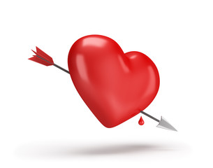 Heart pierced with an arrow