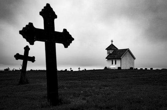 Old Graveyard taken by Sandra Meng; Norway, June 2017