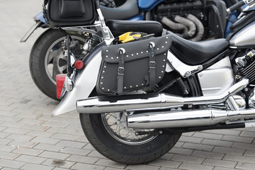 Part of a luxury motorcycle