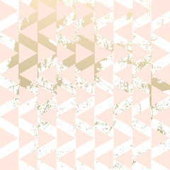 Geometric hipster abstract chevron pattern with gold triangular elements. Trendy chic golden background design for wedding, invitations, birthday, save the date, anniversary, fashion banners, web
