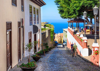 Historic downtown in Icod de los Vinos on Tenerife, Canary Islands, Spain