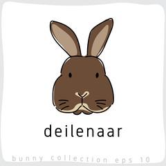Deilenaar : Rabbit Breed Collection : Vector Illustration