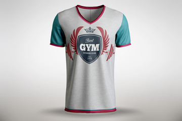 Sports logo on the T-shirt