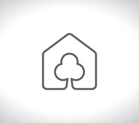 house with tree eco logo
