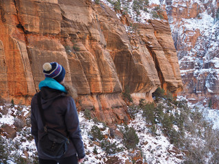 Exploring Zion in winter