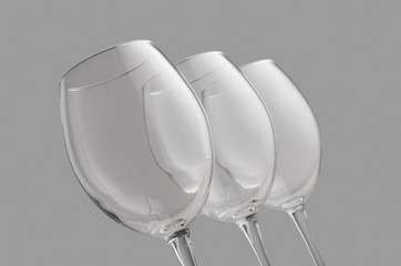 A glass for red wine. Glass for delicious drink. Luxury wine glass concept.