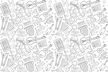 Vector music pattern. Music seamless background