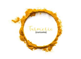 Fototapeta Turmeric powder or Curcuma obraz