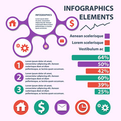 Business Infographics circle origami style. can be used for workflow layout, banner, diagram, number options, step up options web design.