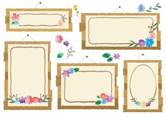 花の看板フレーム