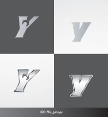 eps Vector image: initials (Y) Fits the garage logo