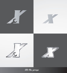 eps Vector image: initials (X) Fits the garage logo