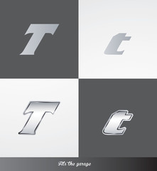 eps Vector image: initials (T) Fits the garage logo