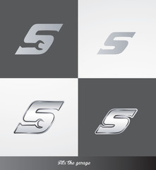 eps Vector image: initials (S) Fits the garage logo