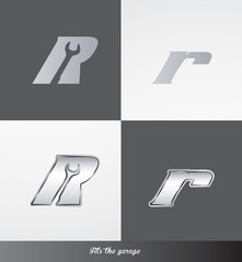eps Vector image: initials (R) Fits the garage logo