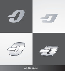 eps Vector image: initials (O) Fits the garage logo