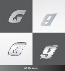 eps Vector image: initials (G) Fits the garage logo