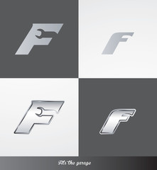 eps Vector image: initials (F) Fits the garage logo
