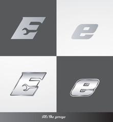 eps Vector image: initials (E) Fits the garage logo