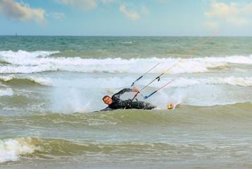 kitesurfeur en action