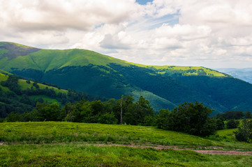 beautiful green hills of Borzhava mountain ridge