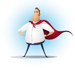 Superhero businessman. Concept of success