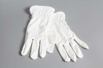 White service gloves