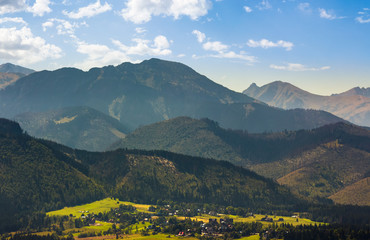 village Zakopane in High Tatra Mountains