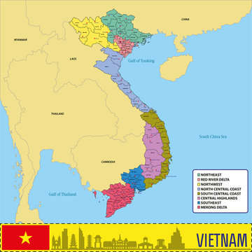 Vietnam vector map