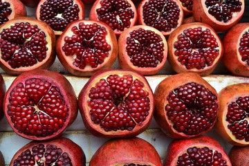Pomegranates at a market in Israel
