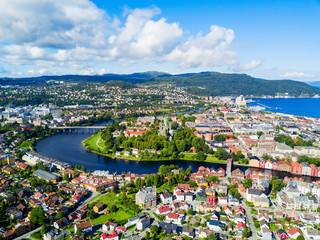 Trondheim aerial panoramic view