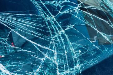 Broken car windshield - texture, background