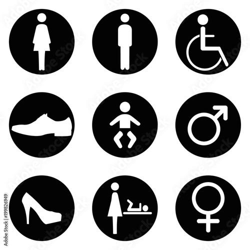 Bathroom Signs Vector Stock Image And Royaltyfree Vector Files On Inspiration Bathroom Sign Vector