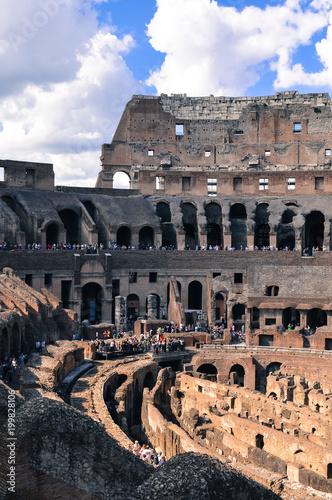 Rome Italy September 29 2013 Coliseum Inside Interior