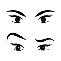 Women eyes. Vector