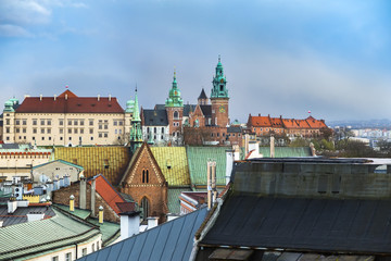 Fototapete - Wawel Castle on top of a hill